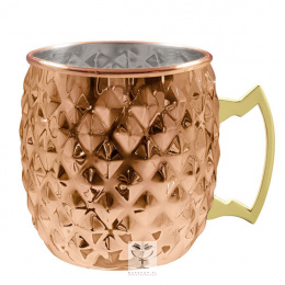Kubek do Moscow Mule, Diamond, miedziany, 550 ml